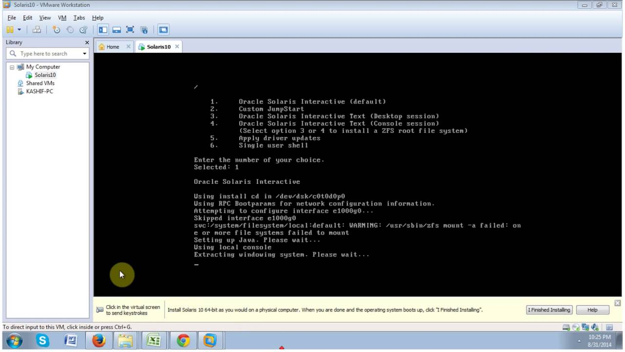 Install Solaris10 & Oracle Database 11g On VMware Part 1