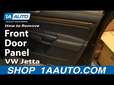 How To Remove Install Inside Front Door Panel 2005-10 Volkswagen VW Jetta