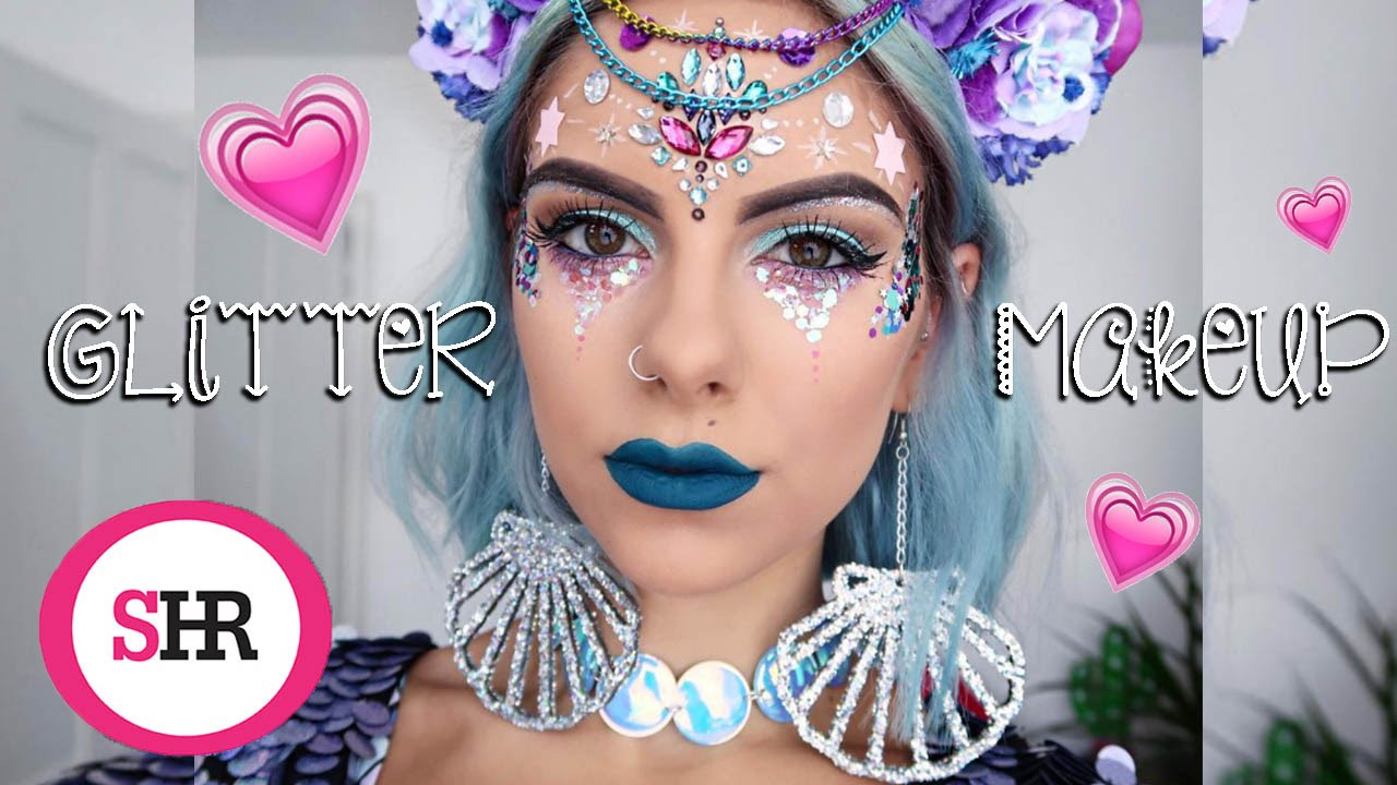 glitter makeup tutorial sophie hannah richardson youtube