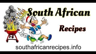 Adding a recipe to South African Recipes.