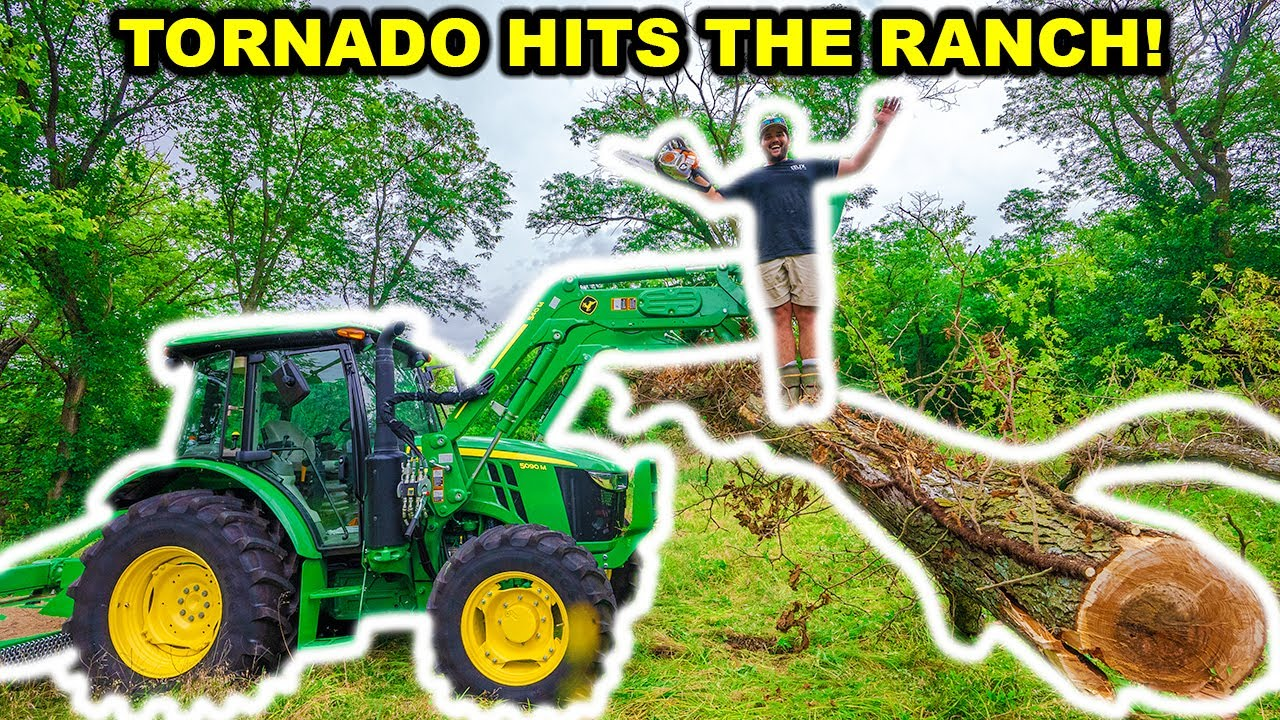 TORNADO Hits the ABANDONED RANCH!!! (Broke the Tractor)