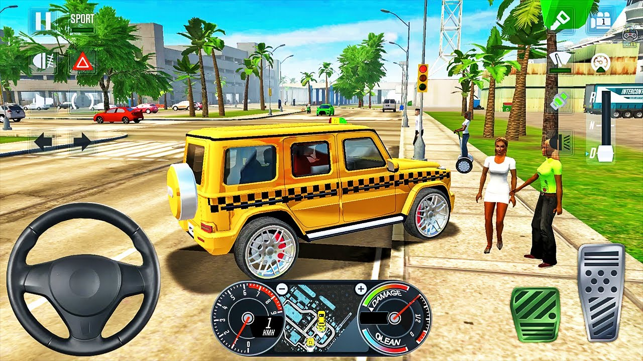 Mercedes G-Wagon Taxi Driving in Los Angeles – Taxi Sim 2020 – Android Gameplay Android Gameplay