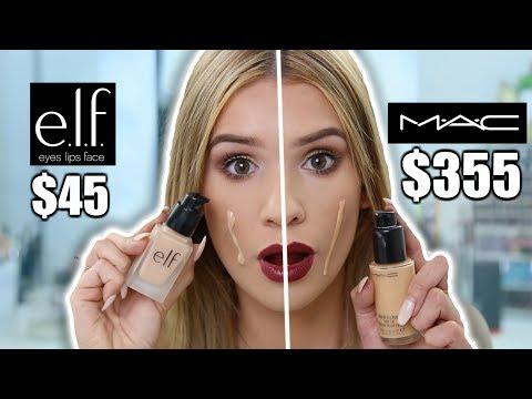 MAC VS ELF Full Face Comparison! WHAT'S BETTER?!