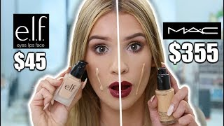 MAC VS ELF Full Face Comparison! WHAT