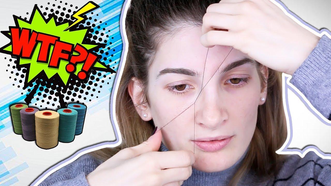 Κάνω αποτρίχωση στο πρόσωπο με κλωστή! ☆ Eleonora - YouTube a7f35df69b0