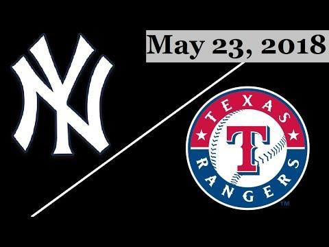 New York Yankees vs Texas Rangers Highlights    May 23, 2018