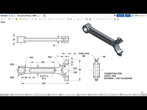 Learn Onshape – Project 10 – Connecting Rod