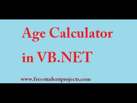 VB.NET Program - Age Calculator