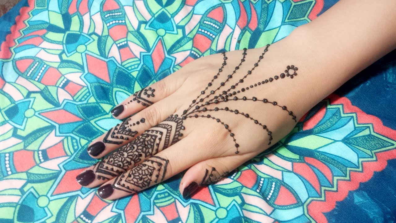 DIY Small and Easy Mehendi Henna Design Jewelry Tutorial 1