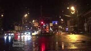 ДТП с участием мотоцикла и служебной машины в Краснодаре