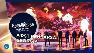 Georgia 🇬🇪 - Oto Nemsadze - Keep On Going - First Rehearsal - Eurovision 2019
