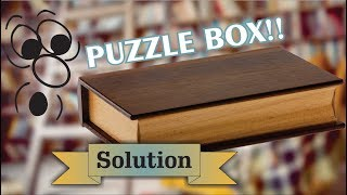 Solution for Kamei Book Box from Puzzle Master Wood Puzzles