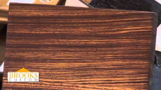 Zebrawood Countertops - Brooks Custom