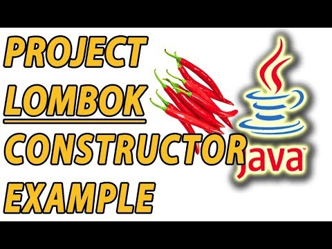 Project Lombok Constructors Example (Part 7)