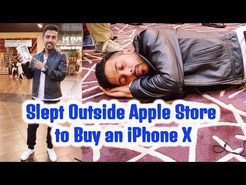 iPhone X | Slept outside Apple Store Dubai Mall to Buy an iPhone X |