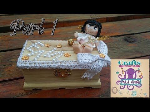 DIY: How to make decoration on wooden box for christening TUTORIAL PART 1