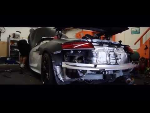 WILFRIED ZAHA's AUDI R8 Being WRAPPED BY SHADY TINTS MATTE BLACK - Teaser Video