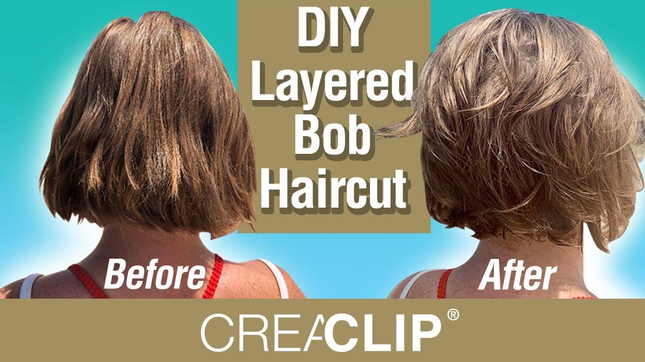 DIY Layered Bob Haircut Live on BEACH