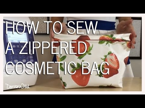 How To Install A Zipper And Sew A Zippered Pouch