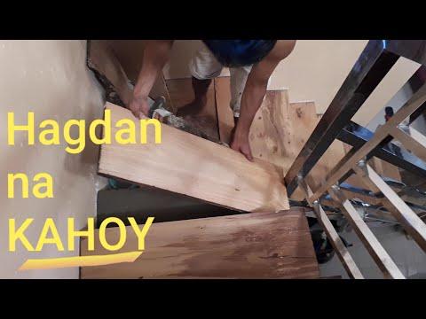 How to build wood stairs (Mura na madali pa)