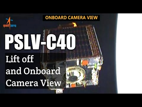 PSLV-C40/Cartosat-2 Series Mission Liftoff and Onboard Camera View