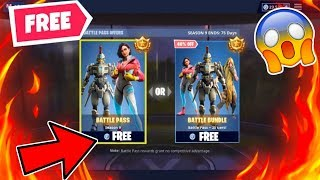 HOW TO GET THE SEASON 9 BATTLE PASS FOR FREE! FREE FORTNITE SEASON 9 BATTLE PASS! (Salih Exposed)