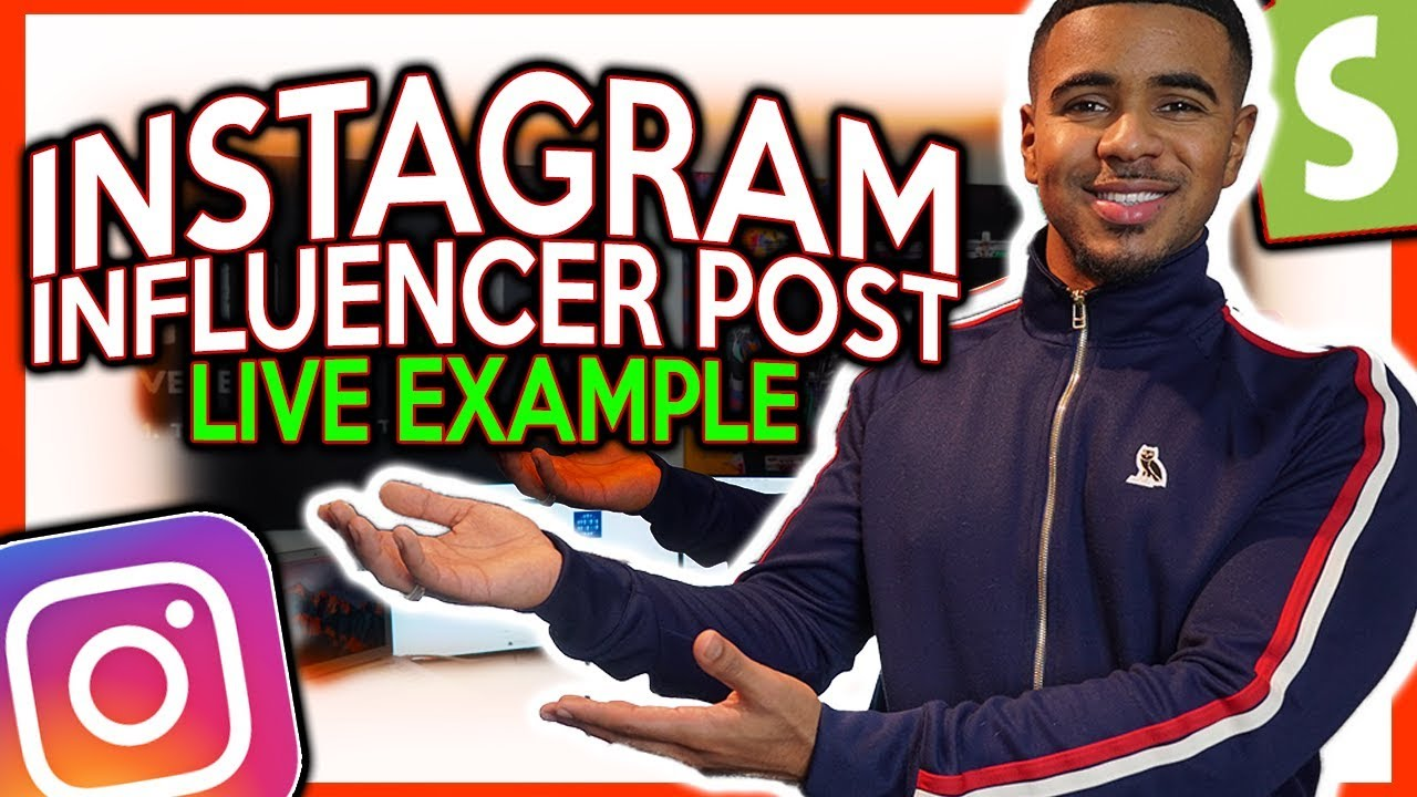 How To Set Up An Instagram Influencer Post (Shopify Dropshipping)