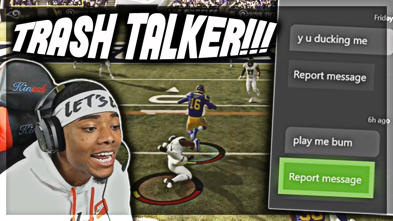 """""""THIS IS PERSONAL I NEED REVENGE"""" - MADDEN 19 TRASH TALK GAME"""