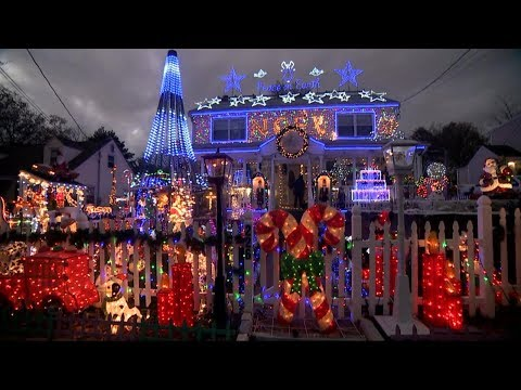 Families with the best Christmas light displays