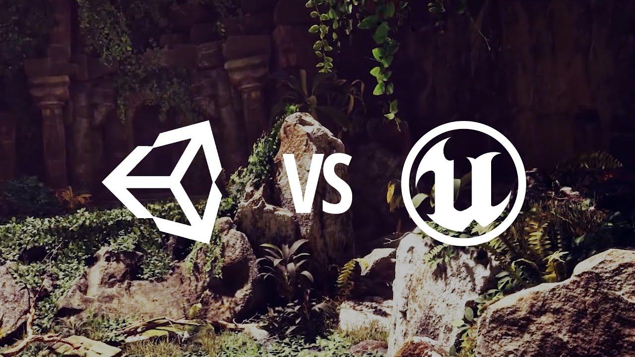 unreal vs unity  clash of titans