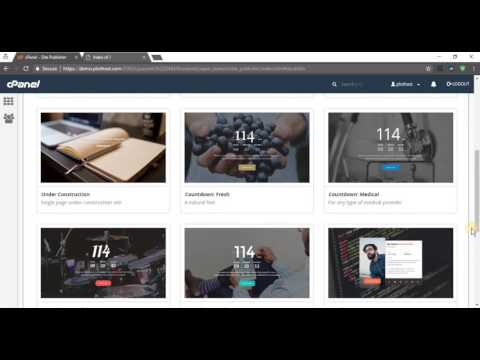How to use cPanel Site Publisher to create a new website