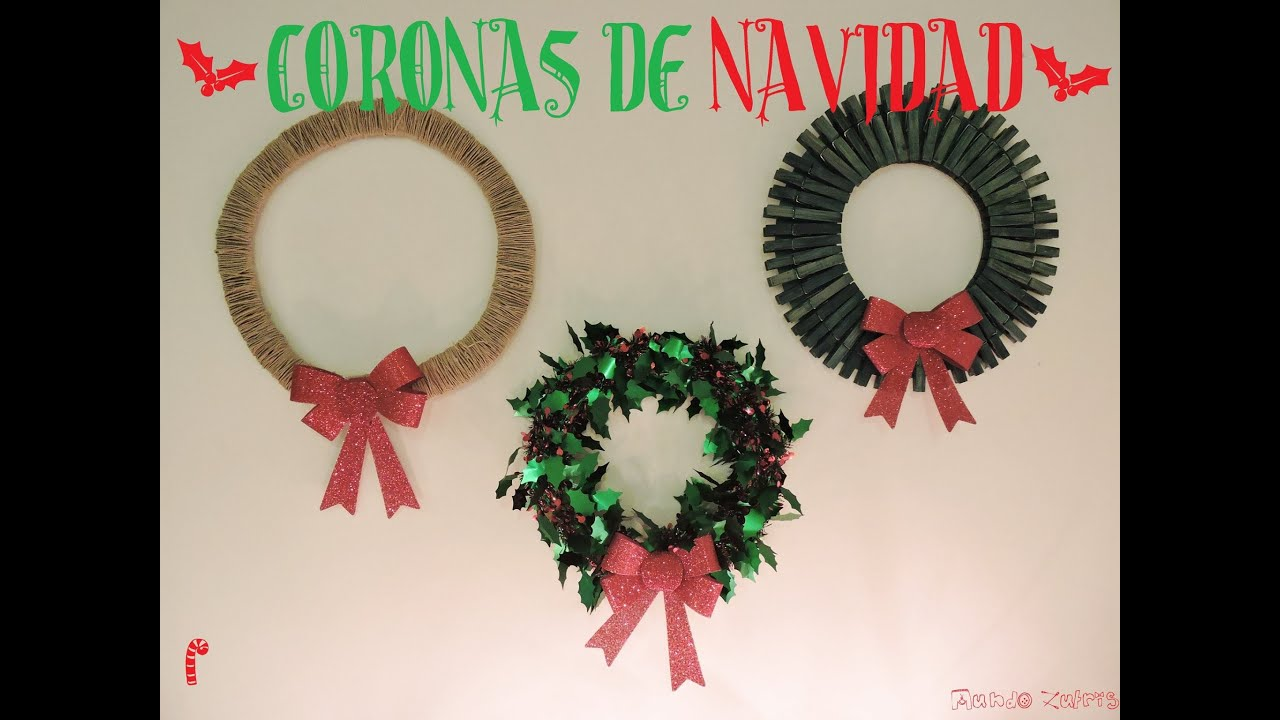 Christmas diy como hacer coronas navide as f cil how to make christmas wreaths youtube Cosas navidenas para hacer en casa faciles