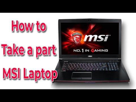 MSI GE72 MS1791 Laptop Disassemble