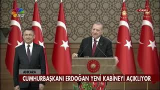 CUMHURBAŞKANI ERDOĞAN YENİ KABİNE LİSTESİNİ AÇIKLADI / ANKARA