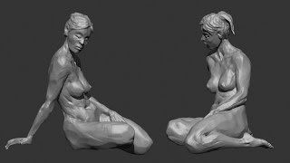 zbrush sculpting from live modele #4