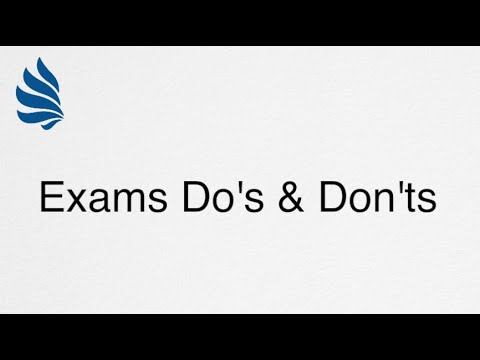 Exams Do's & Don'ts | Lanterna Education