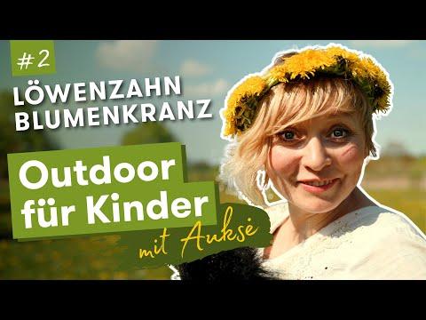 Aukse TV | Outdoor für Kinder | Löwenzahn Blumenkranz