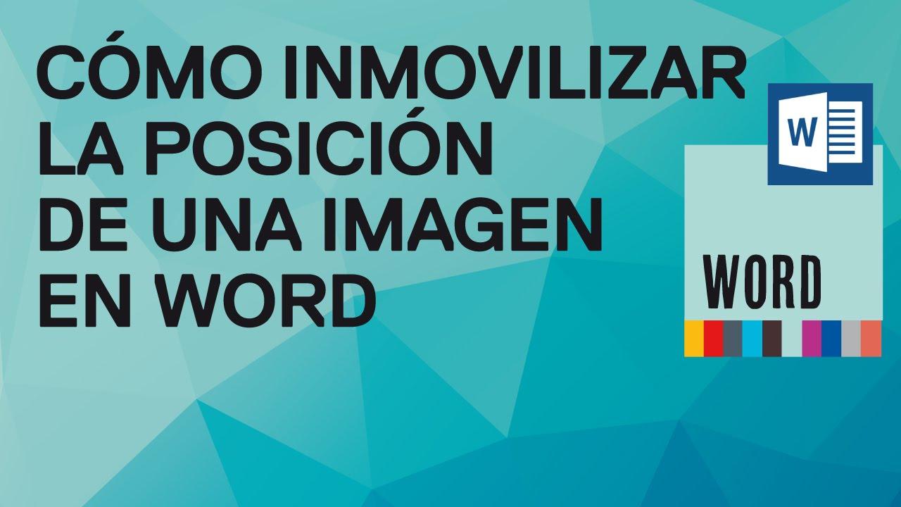 C mo inmovilizar la posici n de una imagen en word 2010 y for Espejo que no invierte la imagen