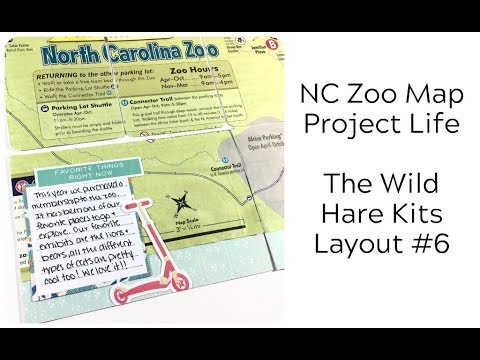 The Wild Hare Kits - Layout #6: NC Zoo Map (Project Life) - YouTube
