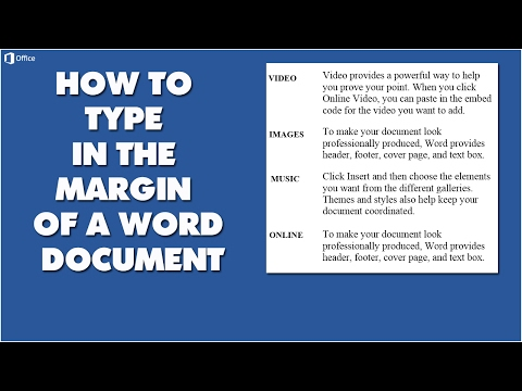 How To Type Text In The Margin Of A Word Document