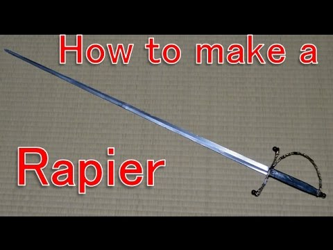 How To Make A Rapier Cosplay Prop Tutorial Youtube