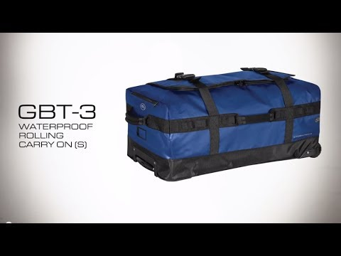 GBT-3 STORMTECH WATERPROOF ROLLING CARRY ON (S) - YouTube dcfeefa791bf7