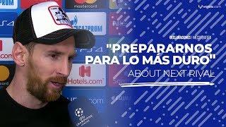 Messi, tras el triunfo sobre Lyon: