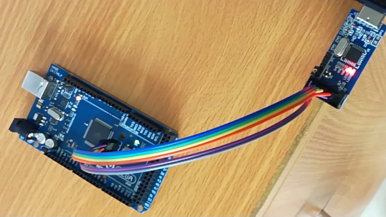 Program arduino mega via usb asp code using atmel