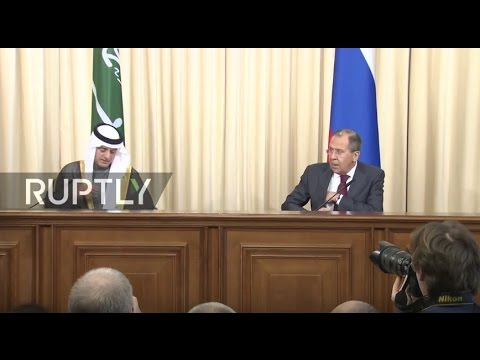 LIVE: Joint press conference by Russian FM Lavrov and Saudi Arabia FM Al-Jubeir