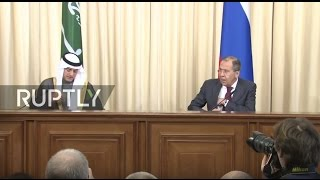 LIVE  Joint press conference by Russian FM Lavrov and Saudi Arabia FM Al Jubeir