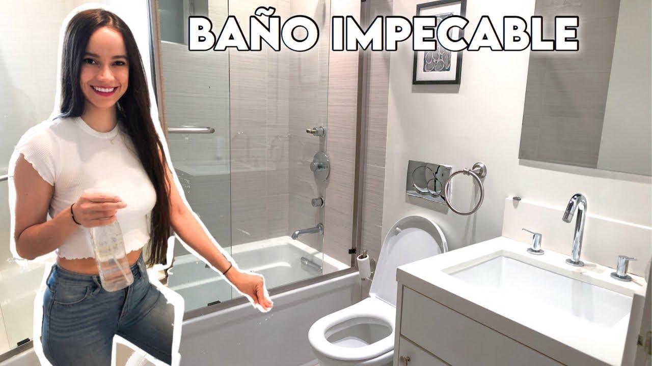 CÓMO LAVAR EL BAÑO FÁCIL Y RÁPIDO | Rutina para limpiar el ...