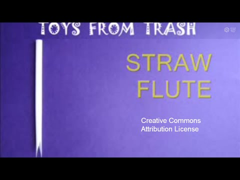 How To Make a Straw Into a Flute