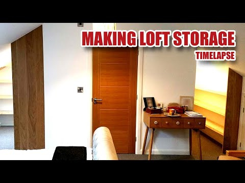 MAKING LOFT STORAGE, Floating Shelves & Clothes Rails - Full Timelapse Build [74]