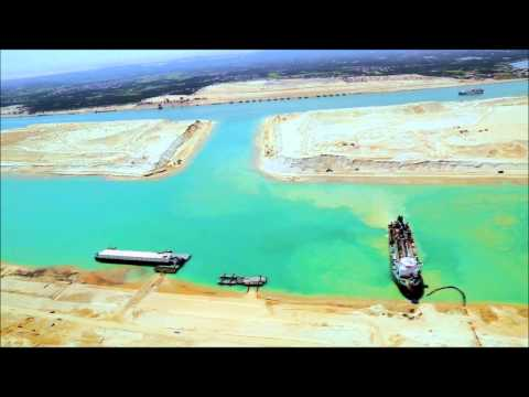 New Suez Canal during the project اعمال مشروع قناة السويس الجديدة